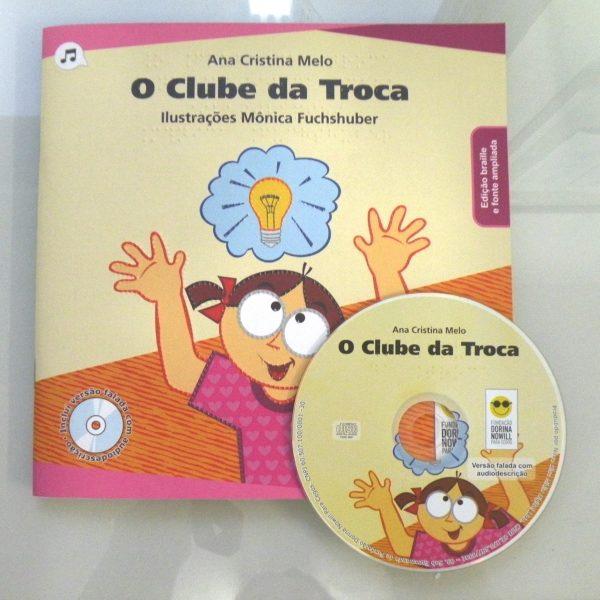 Foto do Livro e cd O Clube da troca.