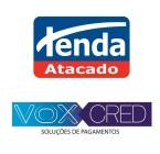 Logotipos Tenda Atacado e Vox Cred Soluções de Pagamentos