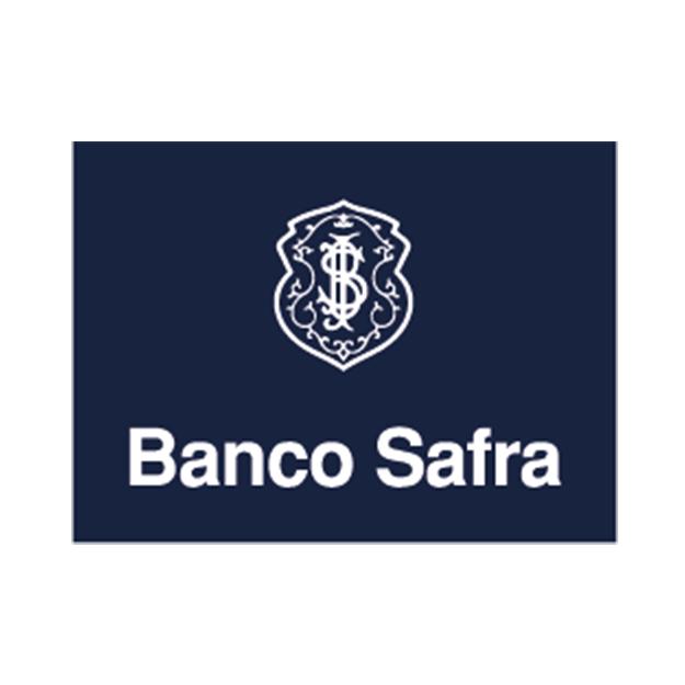 Descrição da imagem: logo do Banco Safra.