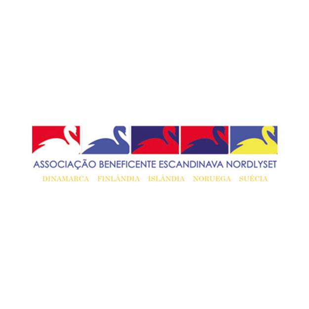 Descrição da imagem: logotipo da Associação Beneficente Escandinava Nordlyset