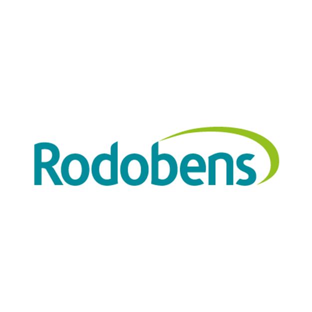 Descrição da imagem: logo da empresa Rodobens